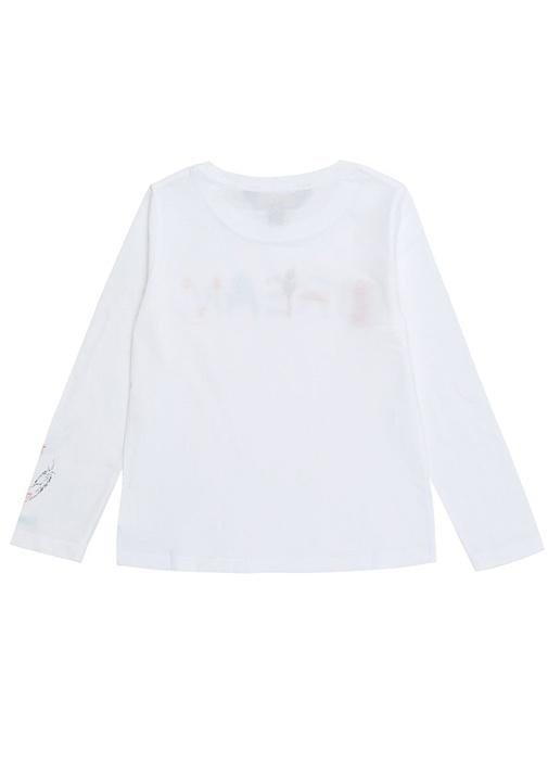 Cruise I Beyaz Yazı Nakışlı Kız Çocuk T-shirt