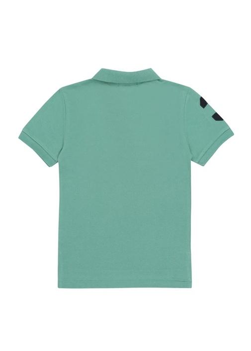 Slim Fit Yeşil Polo Yaka Erkek Çocuk T-shirt