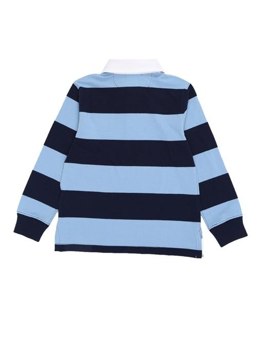 Lacivert Çizgili Logolu Erkek Çocuk Sweatshirt