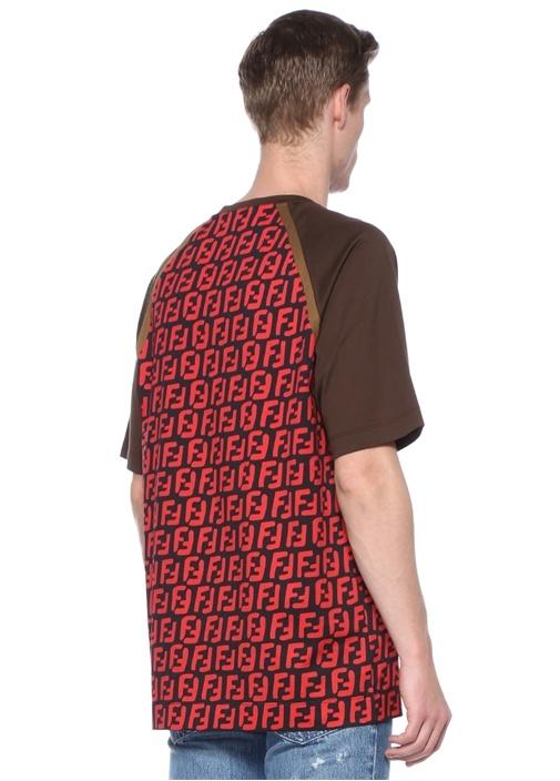 Kırmızı Siyah Bisiklet Yaka Mikro Logolu T-shirt