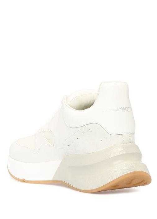 Beyaz Kalın Tabanlı Erkek Deri Sneaker