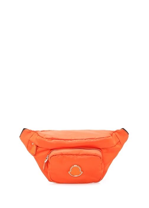Felicie Turuncu Logo Patchli Kadın Bel Çantası