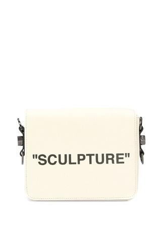 OFF-WHITE Sculpture Bej Baskılı Kadın Kanvas Çanta