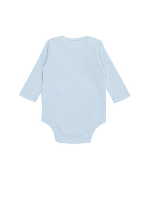 Mavi Ayıcık Nakışlı Erkek Bebek Tulum