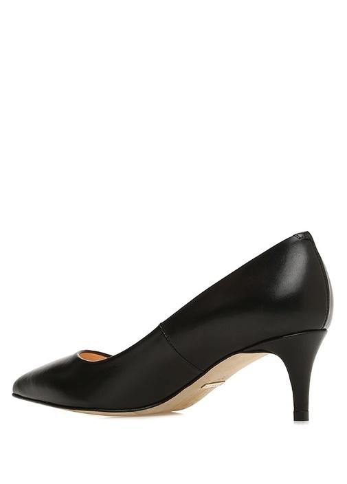 Siyah Kadın Deri Topuklu Ayakkabı