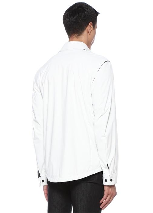 Beyaz Logo Patchli Mont