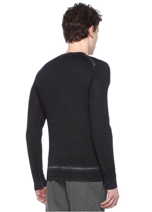 Ekru Yıpratma Detaylı Sweatshirt