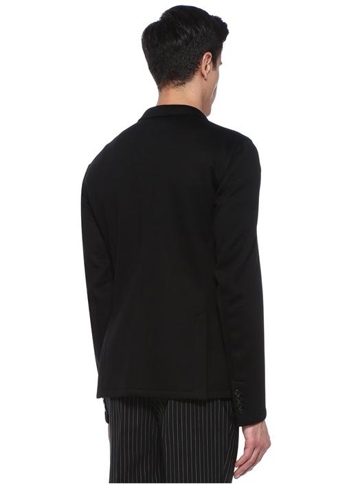 Slim Fit Siyah Kelebek Yaka Ceket