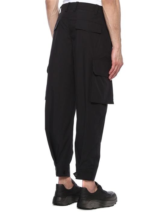 Lacivert Normal Bel Dar Paça Kargo Pantolon