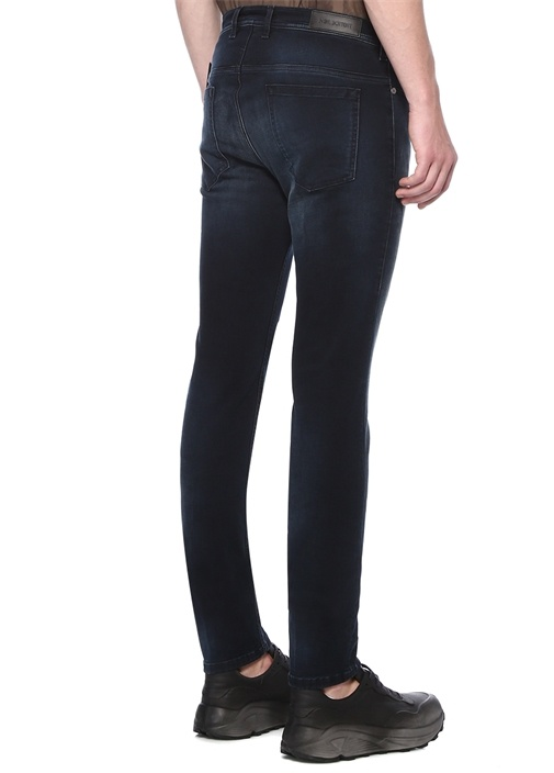 Skinny Fit Lacivert Normal Bel Jean Pantolon