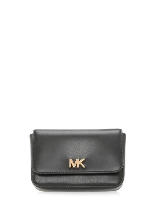 Mott Siyah Logolu Kadın Deri Çanta