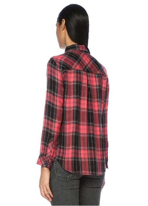 Milo Kırmızı Siyah Ekose Desenli Gömlek