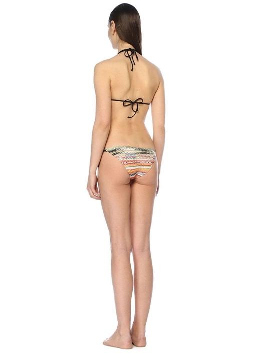 Örgü Dokulu Üçgen Bikini Takımı