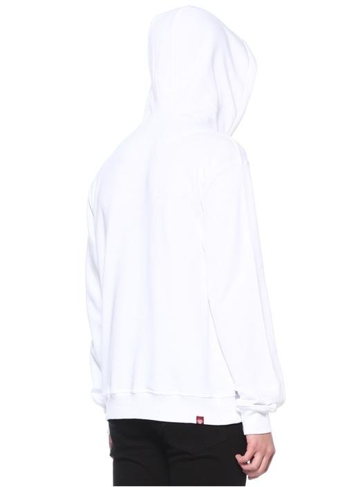 Virgil 1 Kapüşonlu Kabartmalı Baskılı Sweatshirt