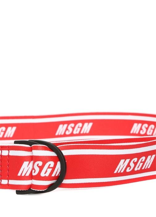Kırmızı Logo Jakarlı Erkek Kemer