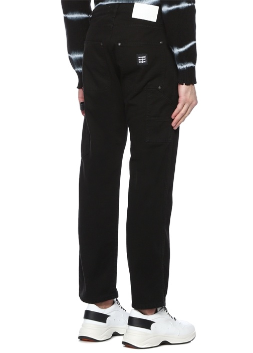 Siyah Normal Bel Jean Pantolon