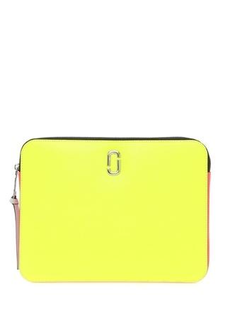 Marc Jacobs Kadın Neon Sarı Pembe 3 Inch Deri Laptop Kılıfı EU