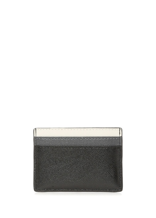 Siyah Silver Logolu Kadın Deri Kartlık