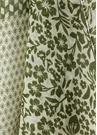 Yeşil Çizgili Çiçek Desenli Erkek KetenAtkı