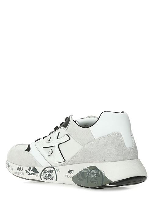 3832 Beyaz Siyah Logolu Erkek Sneaker