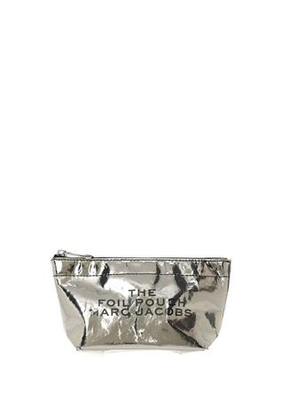 30358127291ed Silver Yazı Baskılı Kadın Makyaj Çantası HIZLI BAK MARC JACOBS Silver ...