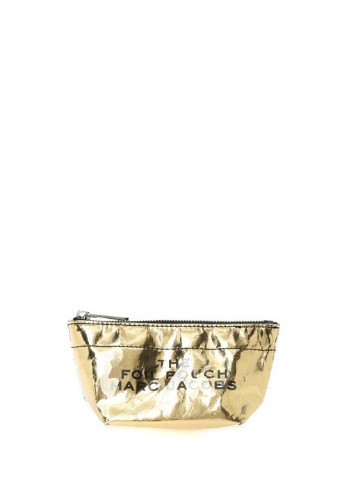 Gold Yazı Baskılı Kadın Makyaj Çantası
