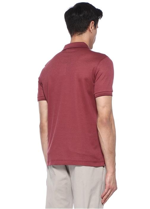 Bordo Polo Yaka T-shirt