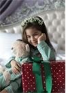 Yeşil Unisex Çocuk Uyku Arkadaşlı Pijama Seti