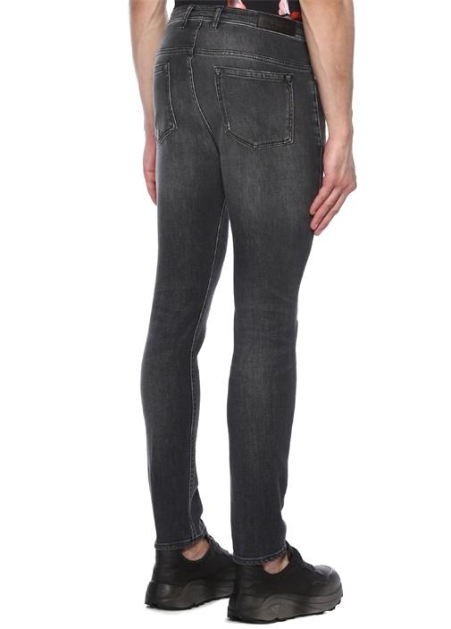 Super Skinny Fit Gri Yıpratmalı Jean Pantolon