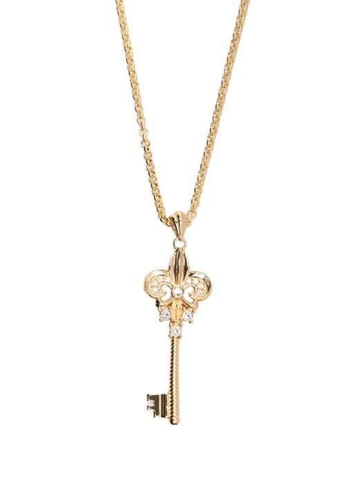 Gold Taşlı Anahtar Uç Detaylı Kadın Kolye