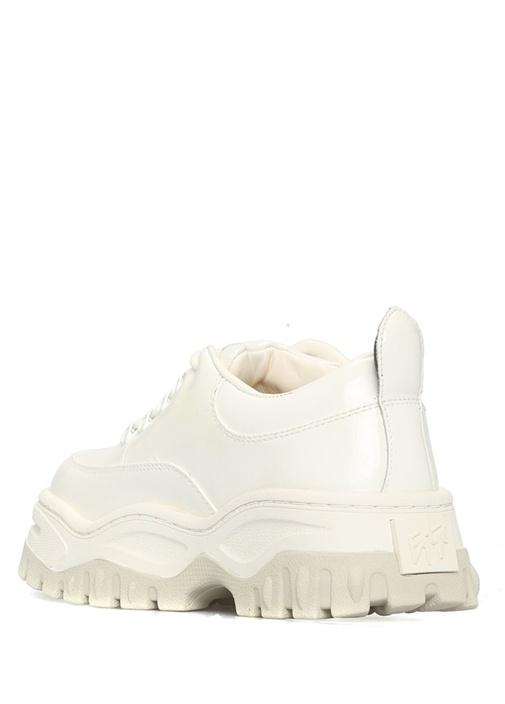 Angel Beyaz Kalın Tabanlı Kadın Deri Sneaker