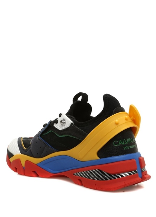 Siyah Bloklu File Garnili Erkek Sneaker
