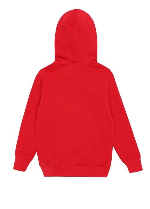 Brave Kırmızı Kapüşonlu Baskılı Çocuk Sweatshirt