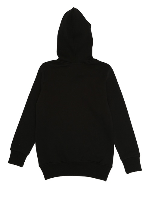 Einstein Siyah Kapüşonlu Kız Çocuk Sweatshirt