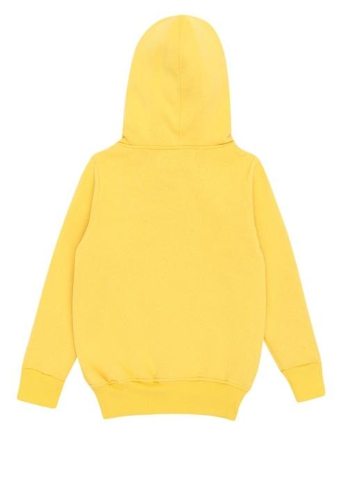 Batman Sarı Kapüşonlu Baskılı Çocuk Sweatshirt