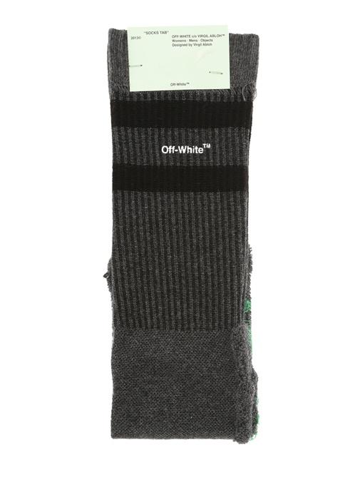 Antrasit Siyah Ters Görünümlü Erkek Çorap