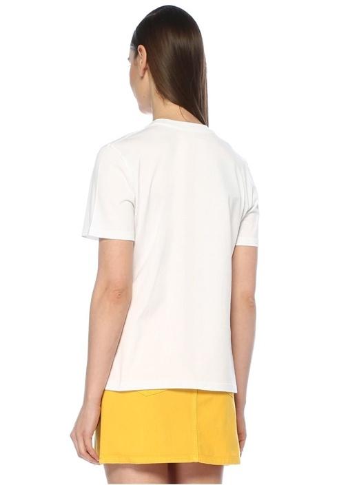 Love Is Love Beyaz Renkli Nakışlı T-shirt