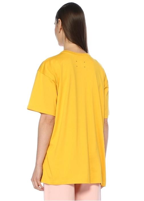 Latin Lover Sarı Baskılı Oversize T-shirt