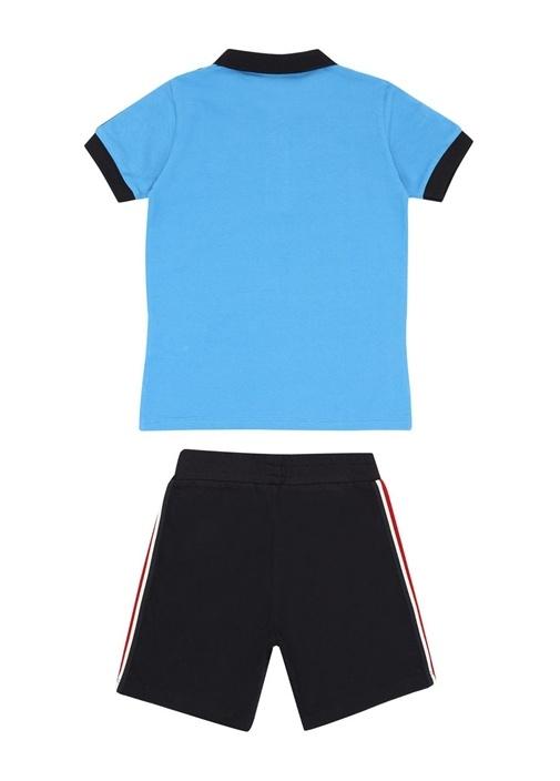 Mavi Siyah Polo Yaka Erkek Çocuk Pantolon Seti