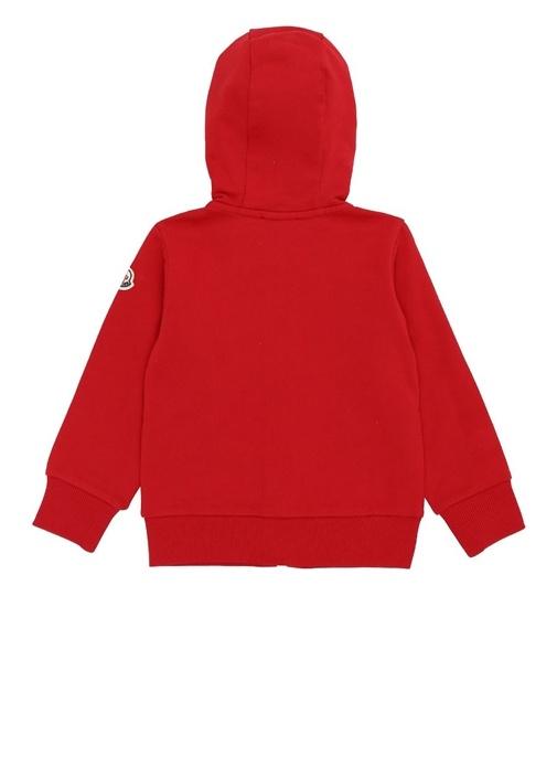 Kırmızı Kapüşonlu Logolu Erkek Çocuk Sweatshirt