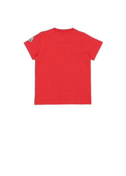 Kırmızı Logo Baskılı Erkek Bebek Basic T-shirt