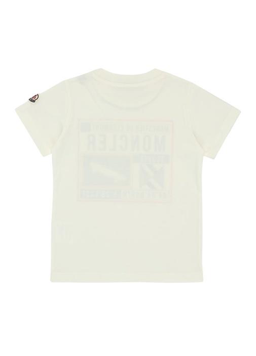 Beyaz Logolu Yazı Baskılı Erkek Çocuk T-shirt
