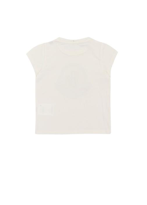 Ekru Logolu Kız Çocuk Basic T-shirt