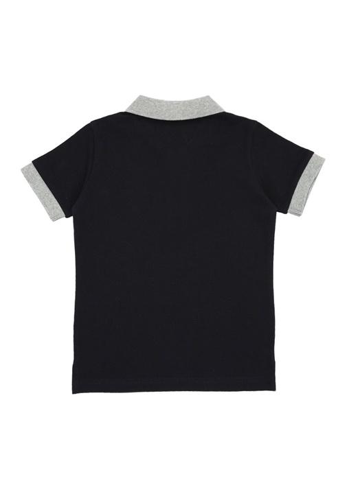 Lacivert Logolu Polo Yaka Erkek Çocuk T-shirt