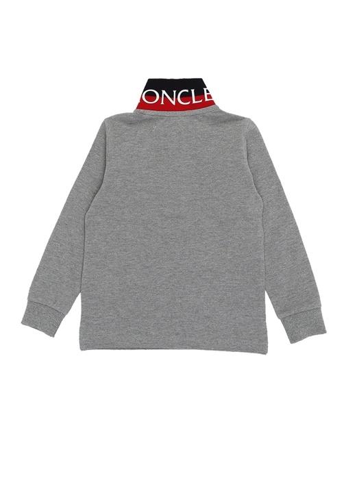 Gri Polo Yaka Uzun Kol Erkek Çocuk T-shirt