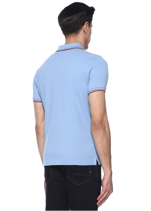 Mavi Polo Yaka Logo Patchli T-shirt