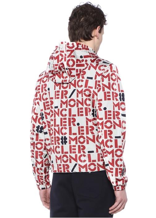 Genius 2 Kırmızı Beyaz Kapüşonlu LogoluMont