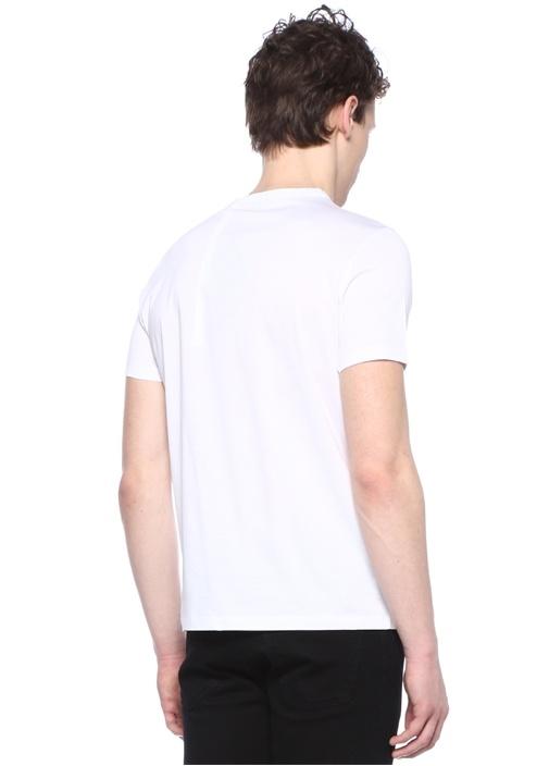 Genius 2 Beyaz Bisiklet Yaka Logolu T-shirt