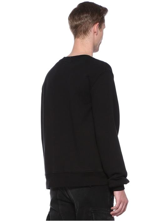 Kisses Siyah Baskılı Sweatshirt