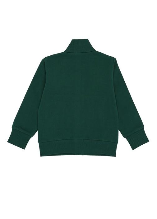 Yeşil Şerit Detaylı Logolu Kız Çocuk Sweatshirt